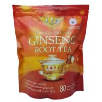 Prince of Peace American Wisconsin Ginseng Root Tea 80 Tea Bags Net 5.1 OZ