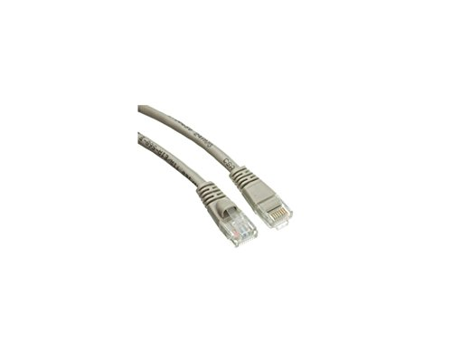 C&E C and E Cat5e Ethernet Patch Cable, Snagless/Molded Boot, 6 Inch, Gray