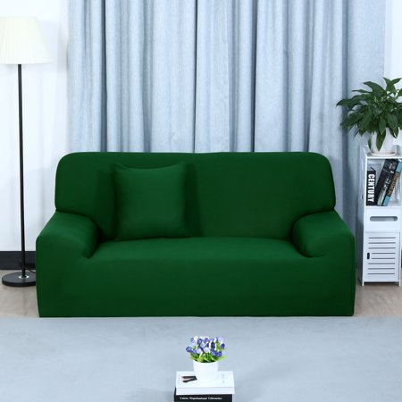 Stretch Chair Sofa Covers Couch Slipcover Dark Green Sofa-3seater
