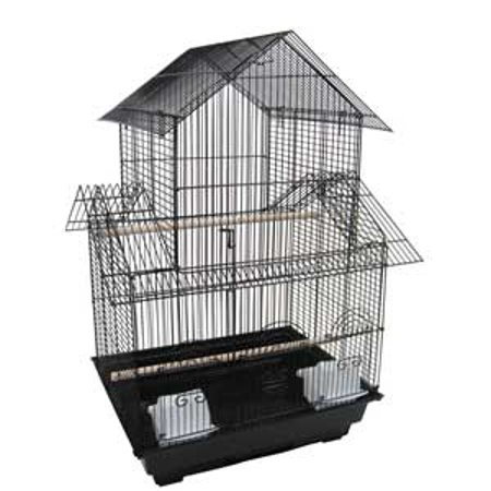 YML 5844BLK 18-Inch by 14-Inch Small Pagoda Top Bird Cage,