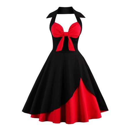kenancy Fashion vintage Women plus size clothing 50s Vintage robe Halter  feminino Ball Gown Party Retro Dress