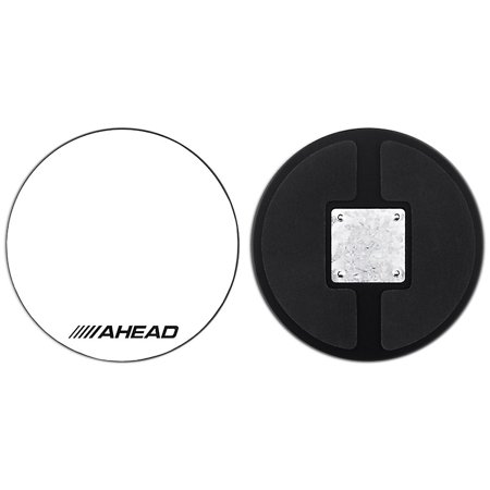 Ahead Drum Corp Practice Pad with Snare Sound White Hard Surface 10