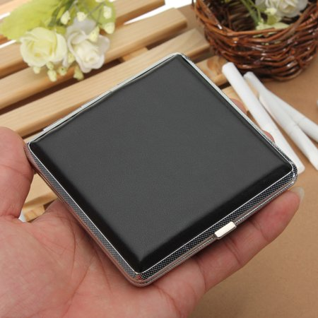 New Leather Pocket Cigarette Tobacco Case Box Holder 20Pcs Cigar Smoke Box - image 1 de 9