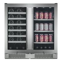 """Avallon AWBV2786 Stainless Steel Built-In 30"""" Wide 27 Bottle Capacity Wine Cooler"""