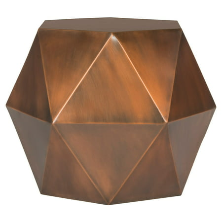 Safavieh Astrid Faceted Side Table, Copper
