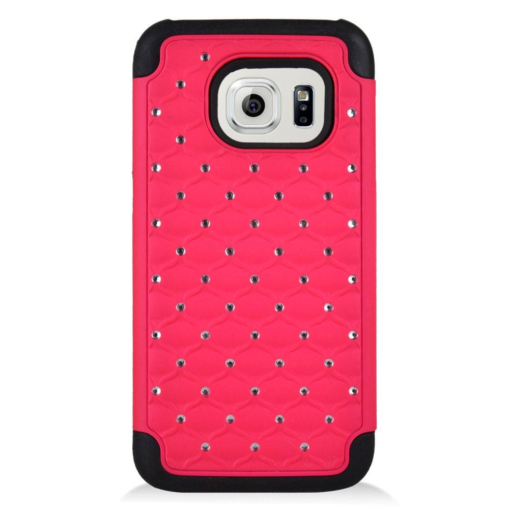 Insten Hard Dual Layer Hybrid Case For Samsung Galaxy S7 - Hot Pink/Black - image 3 of 3