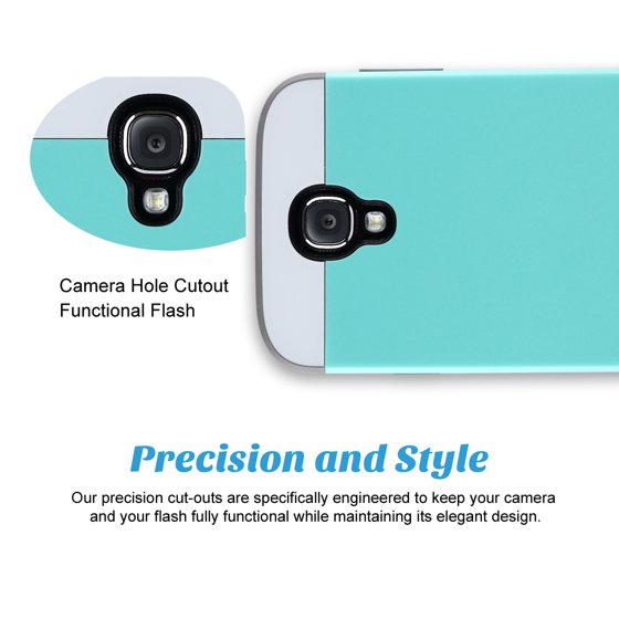 Galaxy S4 Case, S4 Case - ULAK Hybrid Slim Hard Back Case Cover Rubber  Bumper 2in1 Rigid Plastic Shell + TPU Daul Layer w/ Card Storage for  Samsung