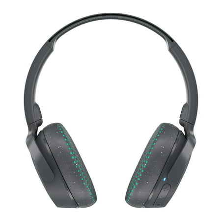 Skullcandy Riff Bluetooth Wireless Over Ear Headphone with Microphone in Gray & Teal