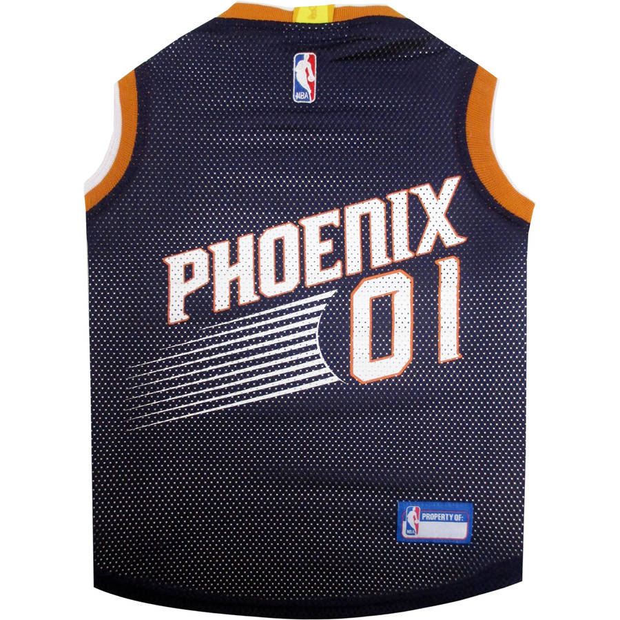 Pets First NBA Phoenix Suns Basketball Dog Jersey, Available in Various Sizes
