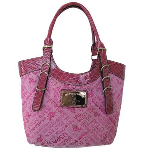 U.S. Polo Assn. Womens 'Captivate' Large Tote Bag, Pink