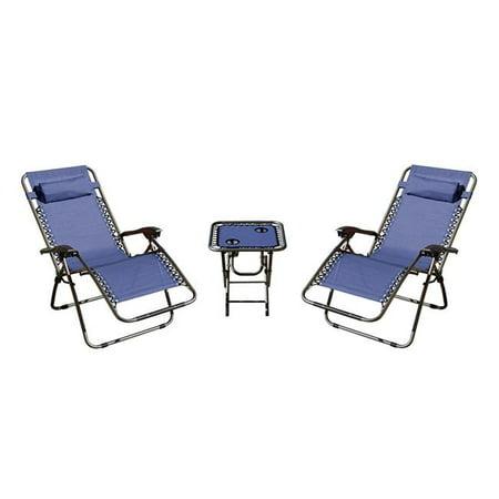 Mano Patio Lf600040 T B Zero Gravity Chairs Amp Table Navy