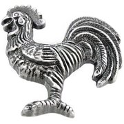 "2 1/4"" Rooster - Right Cabinet/Left Facing - Antique Silver"