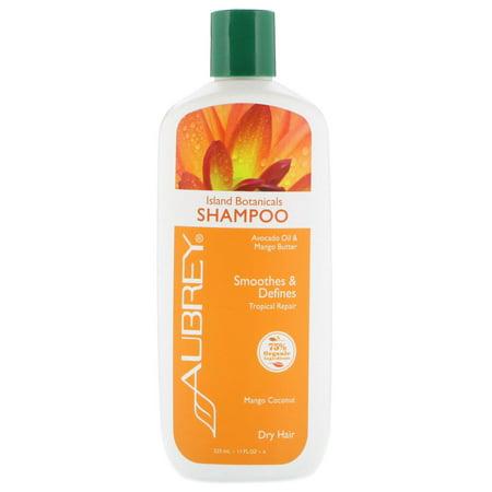 Aubrey Organics  Island Botanicals Shampoo  Dry Hair  Mango Coconut  11 fl oz  325