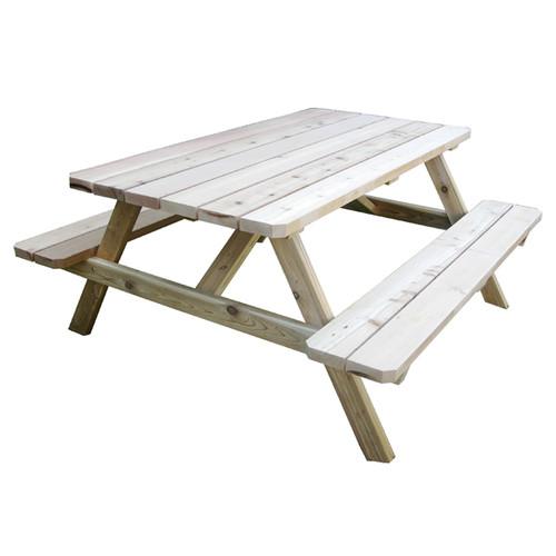 Outdoor Living Today Western Red Cedar 6 ft. Picnic Table by Outdoor Living Today