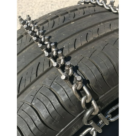 Snow Chains P235/75R17,  ALLOY Cam STUD Tire Chains w/ Rubber Tensioners - image 1 de 4