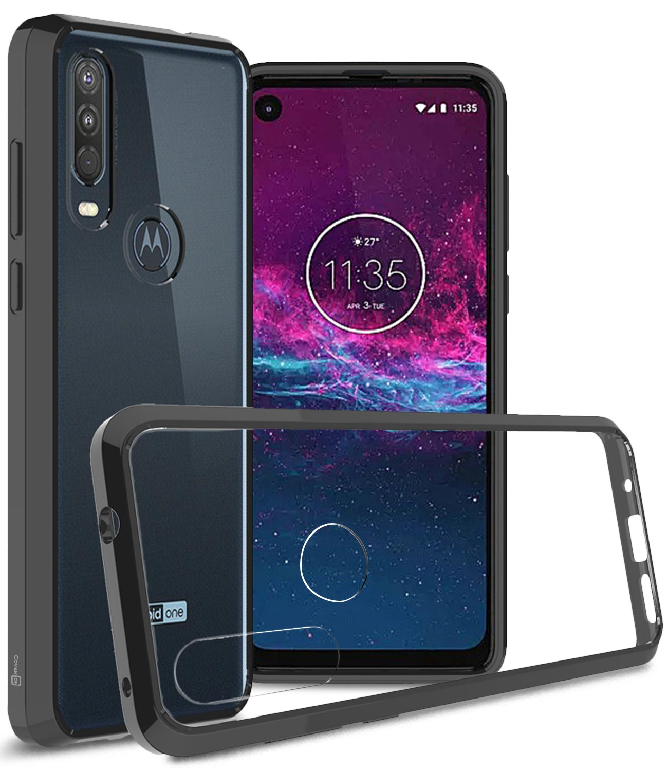 CoverON Motorola One Action Case, ClearGuard Series Clear