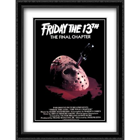 Friday the 13th (Final Chapter) 28x36 Double Matted Large Black Ornate Framed Movie Poster Art Print
