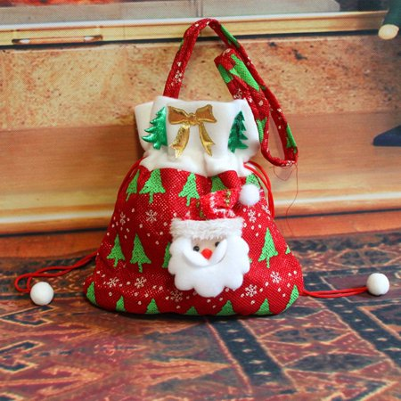 Holiday Time Snowman Christmas Candy Gift Bag Sack Stocking Treat Bag Christmas Candy - Candy Christmas Stocking