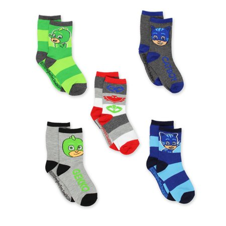 PJ Masks 5 pack Boys Toddler Crew Sock Set PJ046BCCZA