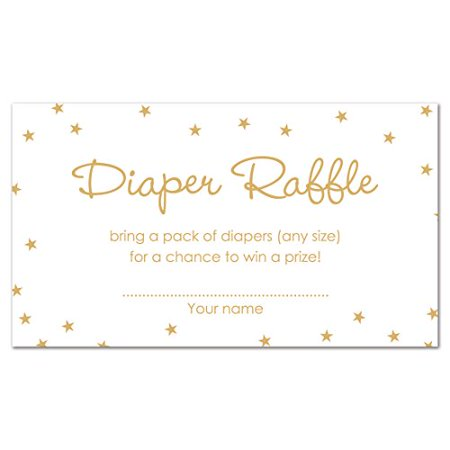 MyExpression.com 48 cnt Twinkle Twinkle Little Star Diaper Raffles (Gold Color on White) - image 1 of 1