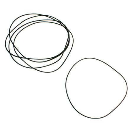 Unique Bargains 150mm x 2mm Black Flexible Rubber Oil Seal Filter O Rings Gaskets 5 Pcs
