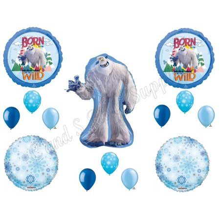 Small Foot Migo Yeti Happy Birthday Party Balloons Decoration Supplies Movie