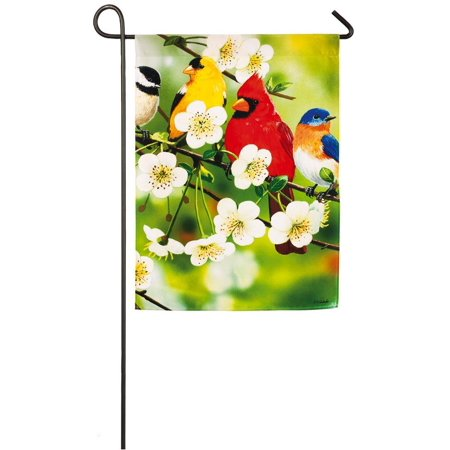 - Songbirds On a Flowering Branch Garden Flag, Welcome guest to your home with this cheery, spring flag! By Evergreen Enterprises Inc