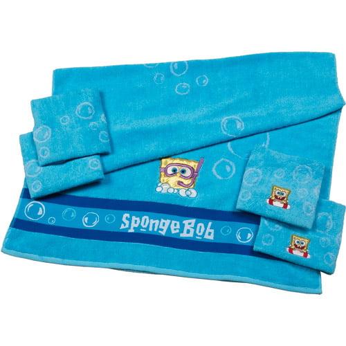 Christmas Kitchen Towels At Walmart: SpongeBob 5-Piece Bath Towel Set