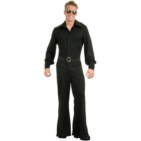 Adult Men's Black Studio 54 Disco Jumpsuit Costume for $<!---->
