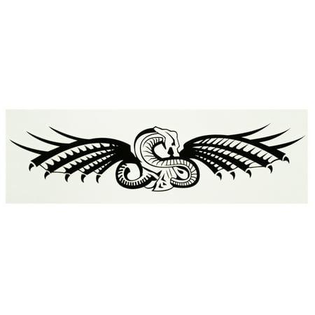 Winged Cobra Symbolic Temporary Tribal Tattoo
