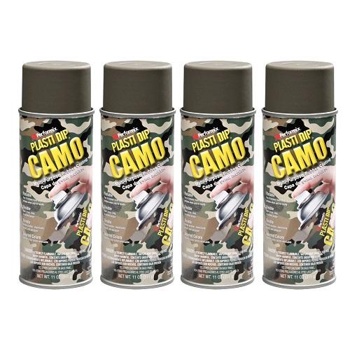 Performix Plasti Dip 11217 Camo Green Rubber Spray 4 PACK
