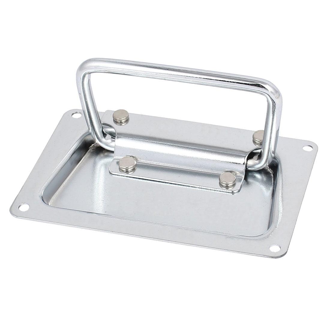 Boîte à outils en aluminium Boîtier en métal rectangulaire poignée encastrée traction 110mmx70mm - image 1 de 1