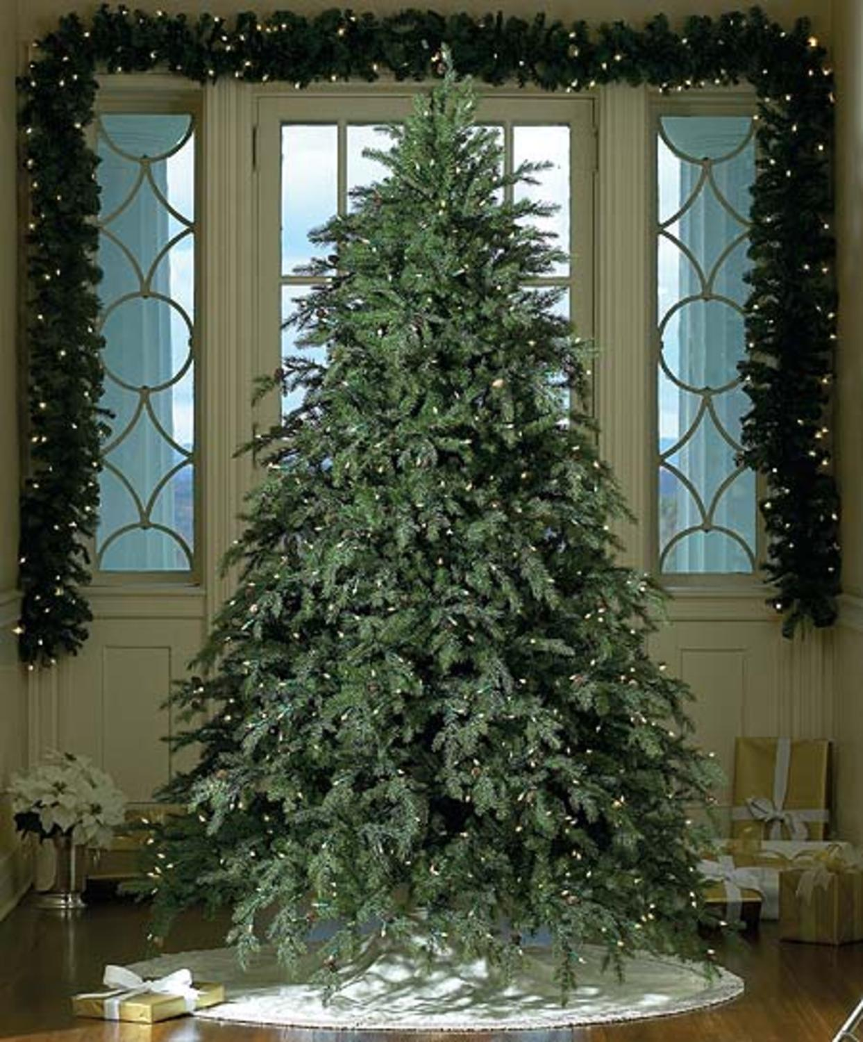 unlit 65 x 62 alaskan pine artificial christmas tree flocked white on green walmartcom - Christmas Tree Walmart