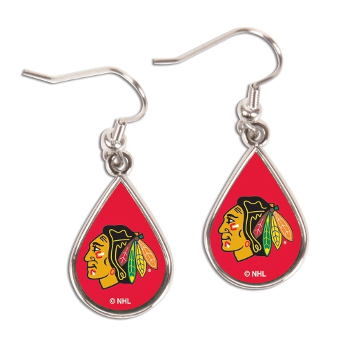 Chicago Blackhawks WinCraft Tear Drop Dangle Earrings - No Size
