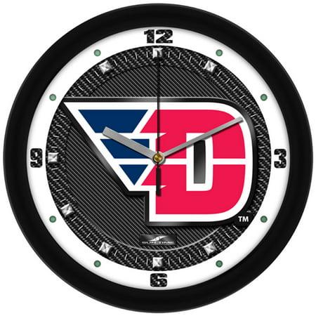Dayton Flyers NCAA Carbon Fiber Textured Wall Clock