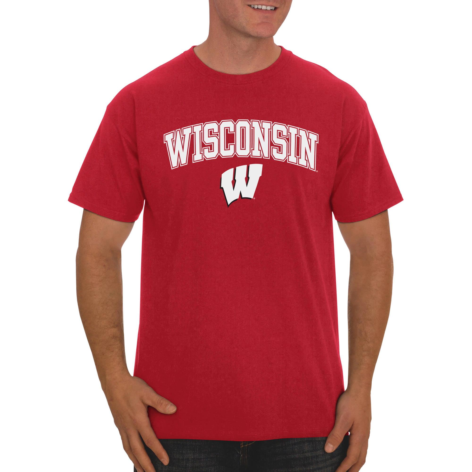 Russell NCAA Wisconsin Badgers Big Men's Classic Cotton T-Shirt