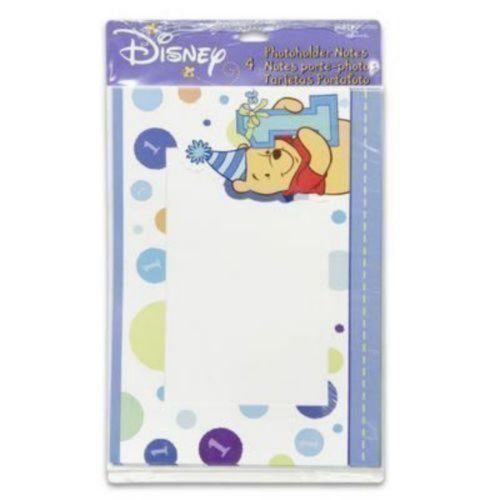Winnie the Pooh Boy's 1st Birthday Photoholder Notes (4ct)