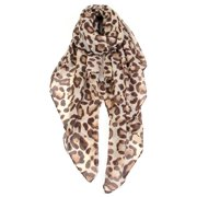 Women's Classic Leopard Print Fashion Scarf (Camel)