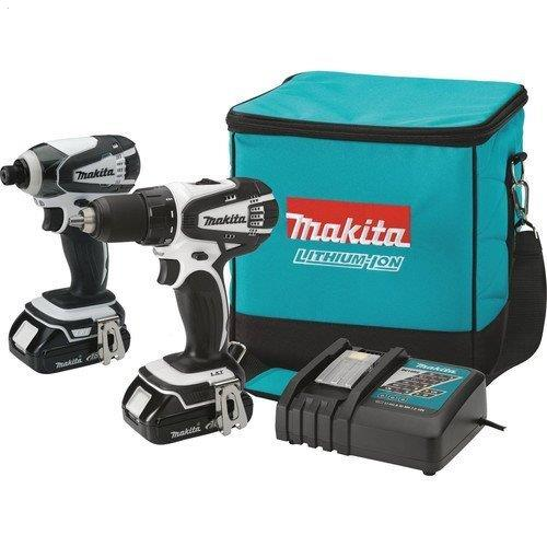 Makita LCT200W 18-Volt Compact Lithium-Ion Cordless 2-Piece Combo Kit