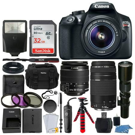 Canon EOS Rebel T6 DSLR 18MP Camera + EF-S 18-55mm Lens (Canon Eos Rebel T5 18mp Dslr Camera)