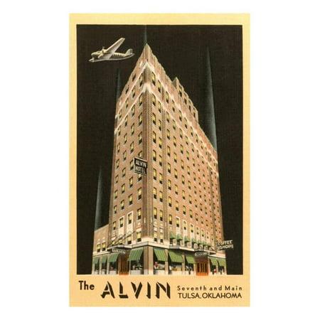 The Alvin Hotel, Tulsa, Oklahoma Print Wall Art