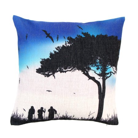 Artistic Linen (Artistic Lovers Silhouette Cotton and Linen Pillowcase Back Cushion Cover Throw Pillow Case for Bed Sofa Car Home Decorative Decor 45 * 45cm)