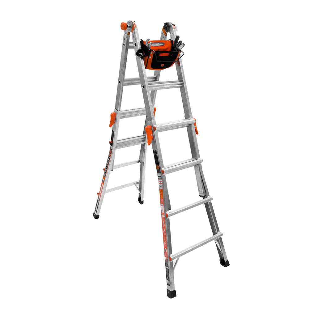 Little Giant Ladder Systems 17 Ft Aluminum Multi Position Ladder & Tool Pouch by Little Giant Ladder Systems