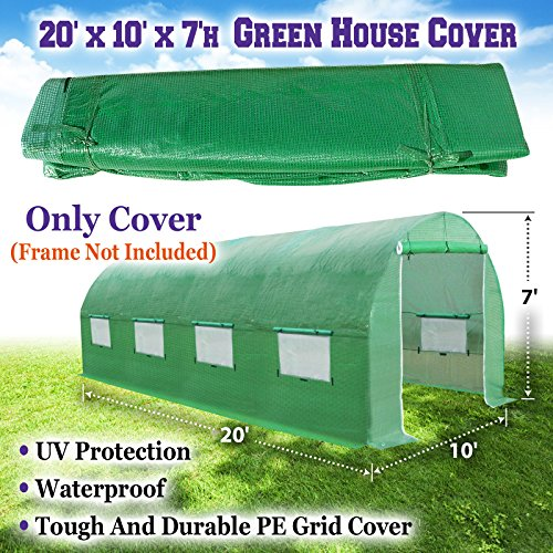 Sunrise 20'X10'X7' Large Walk In Outdoor Plant Gardening Greenhouse Cover (Frame Does Not Included)