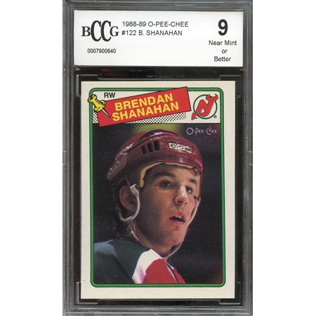 1988 89 O Pee Chee  122 Brendan Shanahan New Jersey Devils Rookie Bgs Bccg 9