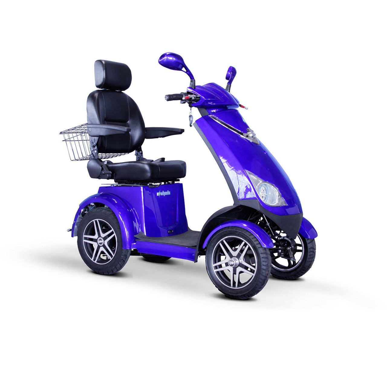 E-Wheels EW-72 4-Wheel 700W High Power Electric Mobility Scooter, Blue