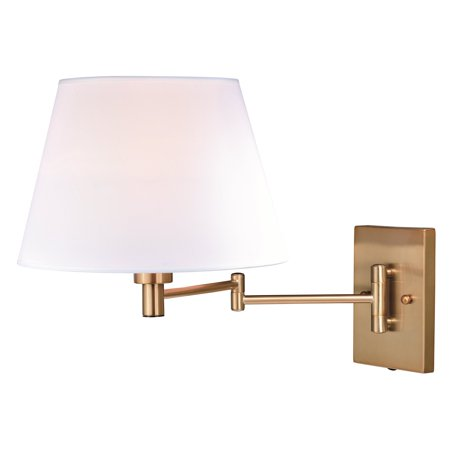 Chapeau 1 Light - Vaxcel W0261 Chapeau Natural Brass Sensor Wall Light