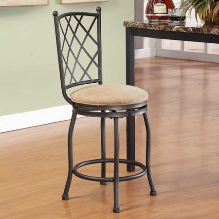 Cool Homepop Tristan 24 Swivel Bar Stool Caraccident5 Cool Chair Designs And Ideas Caraccident5Info