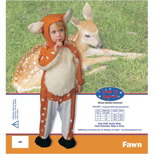 Dress Up America Infant Baby Fawn Children s Costume