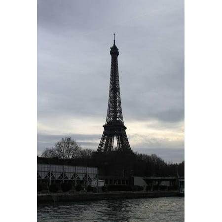 - Eiffel Tower River Paris Photo Art Poster Print Print Wall Art